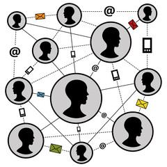 Communication networks vector illustration
