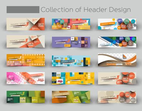 Mega Collection Modern Horizontal Banner & Header Template.