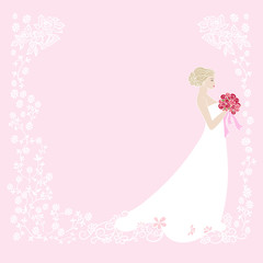 Decorative background with bride.