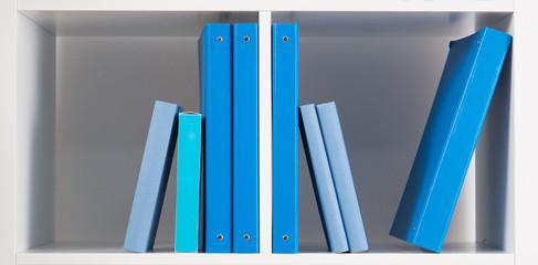 White shelf with books