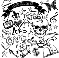 Doodles elements set