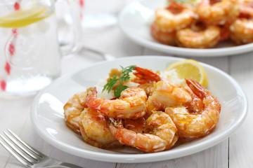 garlic shrimp, hawaiian food