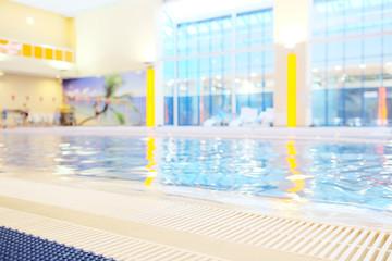 Interior of public swimming pool