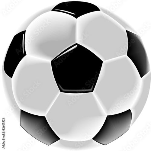 Schwarzweisser Fussball Grafik Weisser Hintergrund Stock