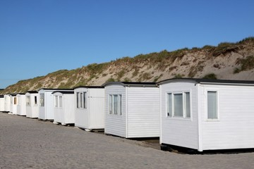 Beach huts in Lokken, Denmark