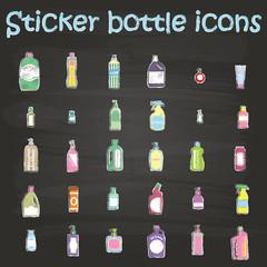 sticker bottle icons