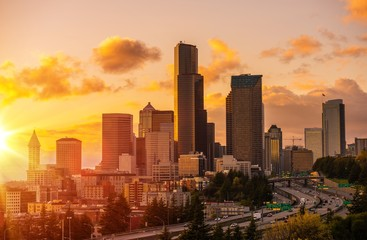 Seattle Scenic Sunset Wall mural