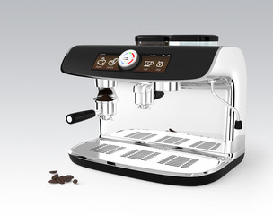 Espresso coffee machine with clipping path.