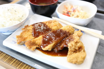 Teriyaki chicken rice.