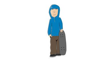 Cartoon Skateman V1