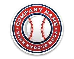baseball sport logo image vector