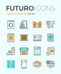 Appliances futuro line icons