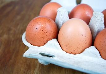 Eggs in carton package