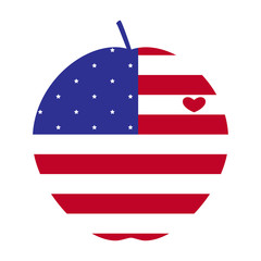 American big apple with heart