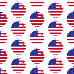 American big apple with heart pattern