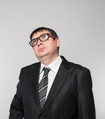 Portrait of a young businessman, with glasses
