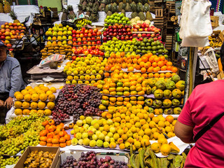The rich offer of fruit at the market Areqipa Peru