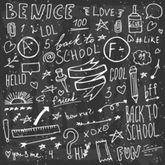 Back to school doodle items