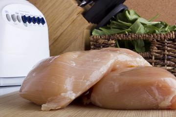 Sliced chicken white meat