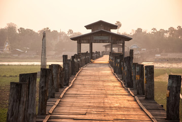 Ubein Bridge, Mandalay, Myanmar