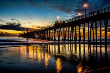 Oceanside Pier at sunset Wall mural