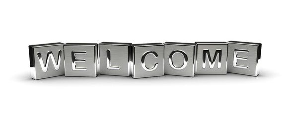 Metal Welcome Text
