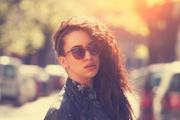 Fashionable girl on the street