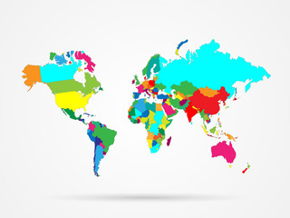 World Map Colorful