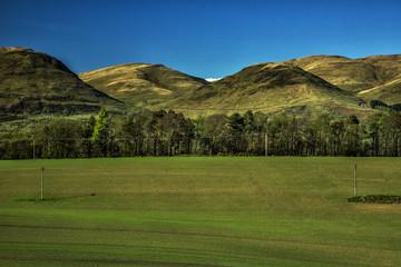 The Ochil Range in Clackmannanshire Scotland