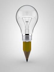 Light bulb shaped pencil