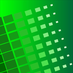 abstract green background which shows the removal of the squares