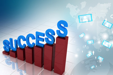 business graph representing growth and success