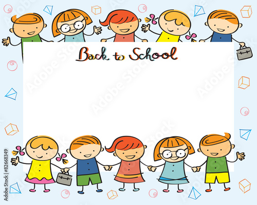 Kindergarten, Kids Back to School Frame\