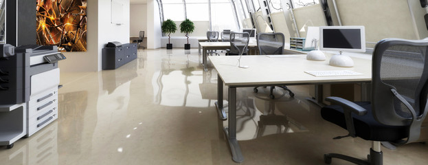 Cute Office Area - panorama