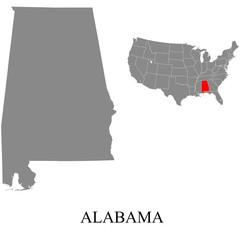 Alabama map