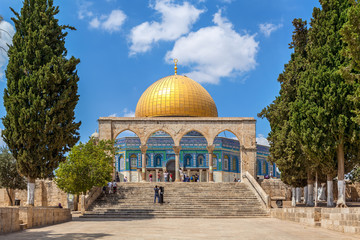 Dome of the Rock mosque in Jerusalem.