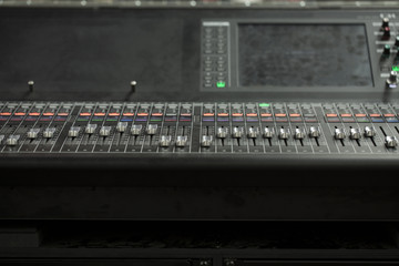 Console used for music production technology