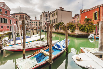 Unknown places and canals in Venice