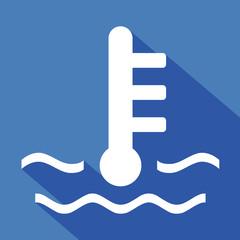 Logo température moteur.