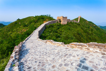 Fototapete - great wall the landmark of china and  beijing