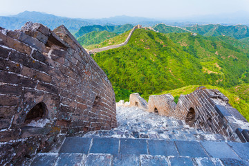 Wall Mural - great wall the landmark of china and  beijing