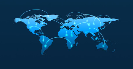 Global business connection concept, Elements of this image furni