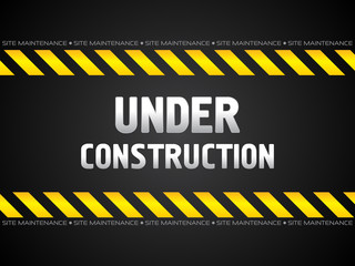 abstract black under construction background