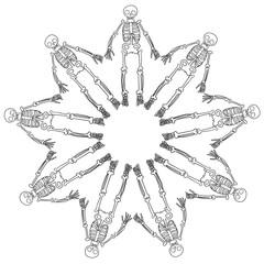 skeleton vector pattern