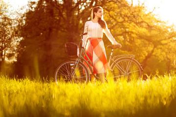Woman on her bike