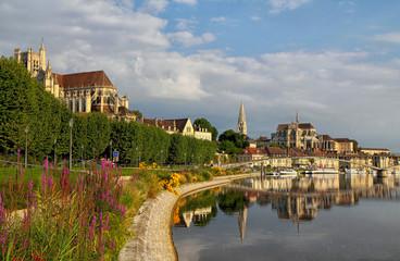 Quais de l'Yonne à Auxerre