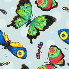 Pattern Butterfly Drawing