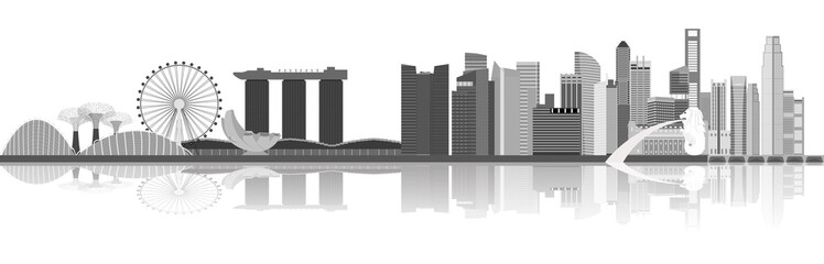 Illustration of Singapore city skyline
