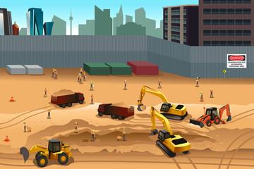 Scene in a construction site