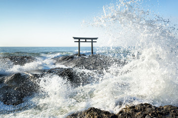 Wall Mural - Tsunami an der japanischen Küste